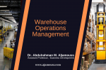 Warehouse Operations Management